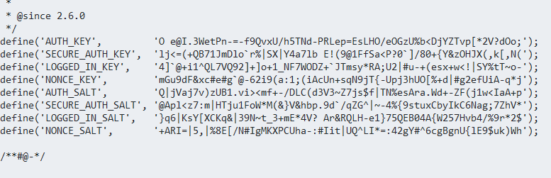 Geheime sleutel in je config.php bestand