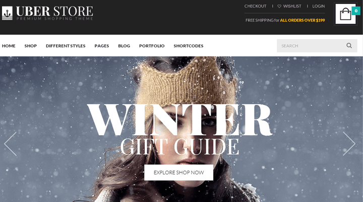 Fashion theme uberstore